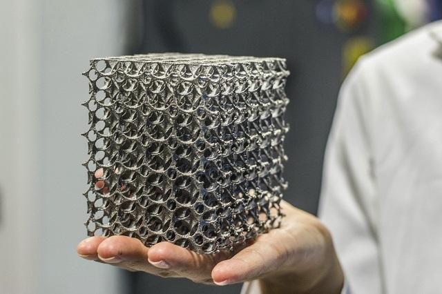 3D printed stainless steel lattice