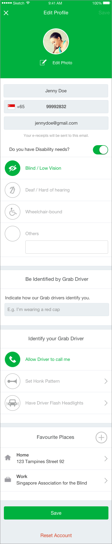Improving the Accessibility of Grab app