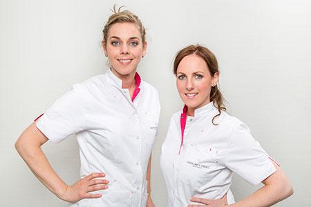 Huidtherapeuten Michelle Janssen en Anouk te Molder -Blikendaan