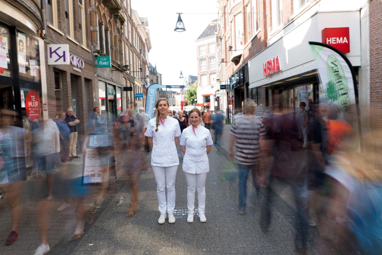 Huidtherapeuten maken timelapse in de binnenstad van Zwolle