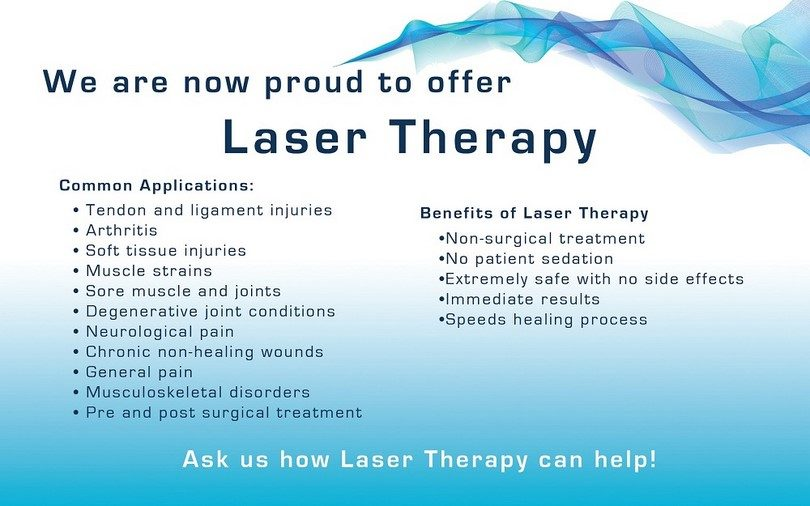 We Offer Cold Laser Therapy
