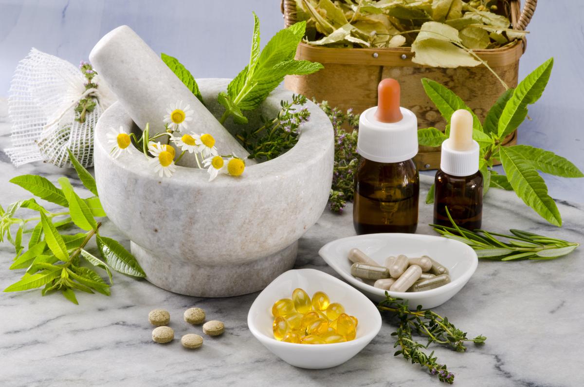 holistic medications and morter and pestal