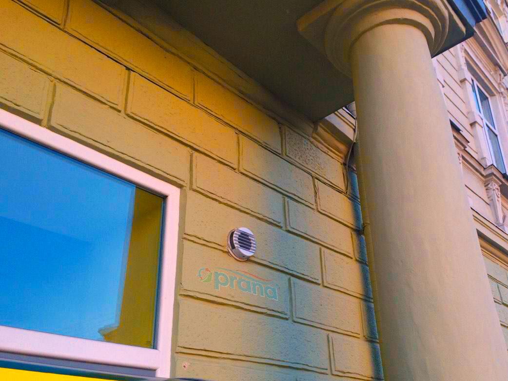 Rekuperators PRANA sabiedriskā ēkā