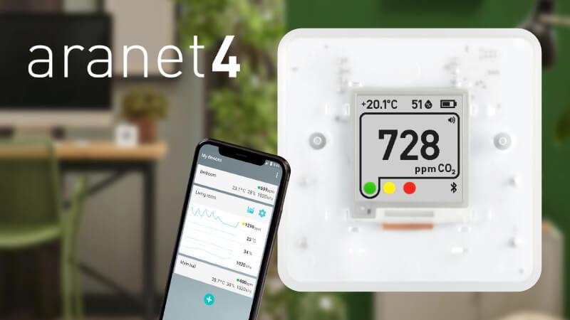 Aranet4 gaisa kvalitātes sensors
