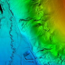 Digital Terrain Model (DTM) Ffom laser scanning
