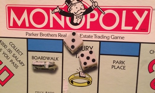 Monopoly boardgame for kids from the 80s
