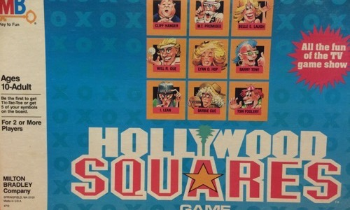 Hollywood Squares 80s kids boardgame
