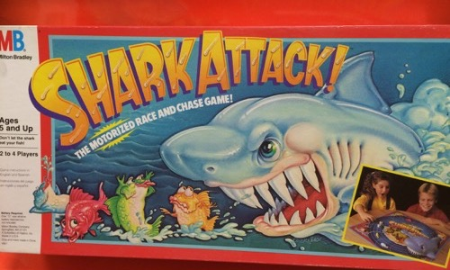 Shark attack board game from the 80s