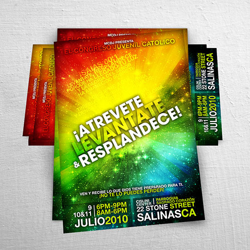 Catholic Christian Poster Design Atrevete Levantate Resplandece | MCDJ