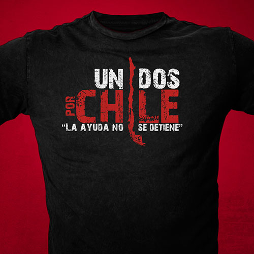Event T-Shirt Design | Unidos Por Chile