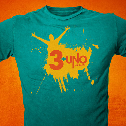 Catholic Christian T-Shirt Design | 3 + Uno