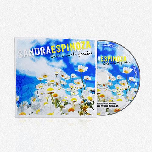 CD Cover Design Quiero darte Gracias | | Sandra Espinoza