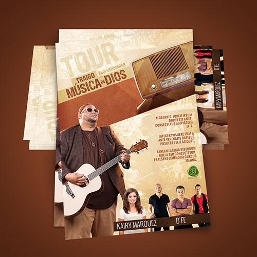 Diseño de Cartel Tour Cristiano Traigo Musica de Dios | Jon Carlo Band