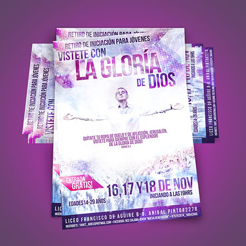 Flyer / Poster Design 'Vistete con la gloria de Dios' | RCC Chile