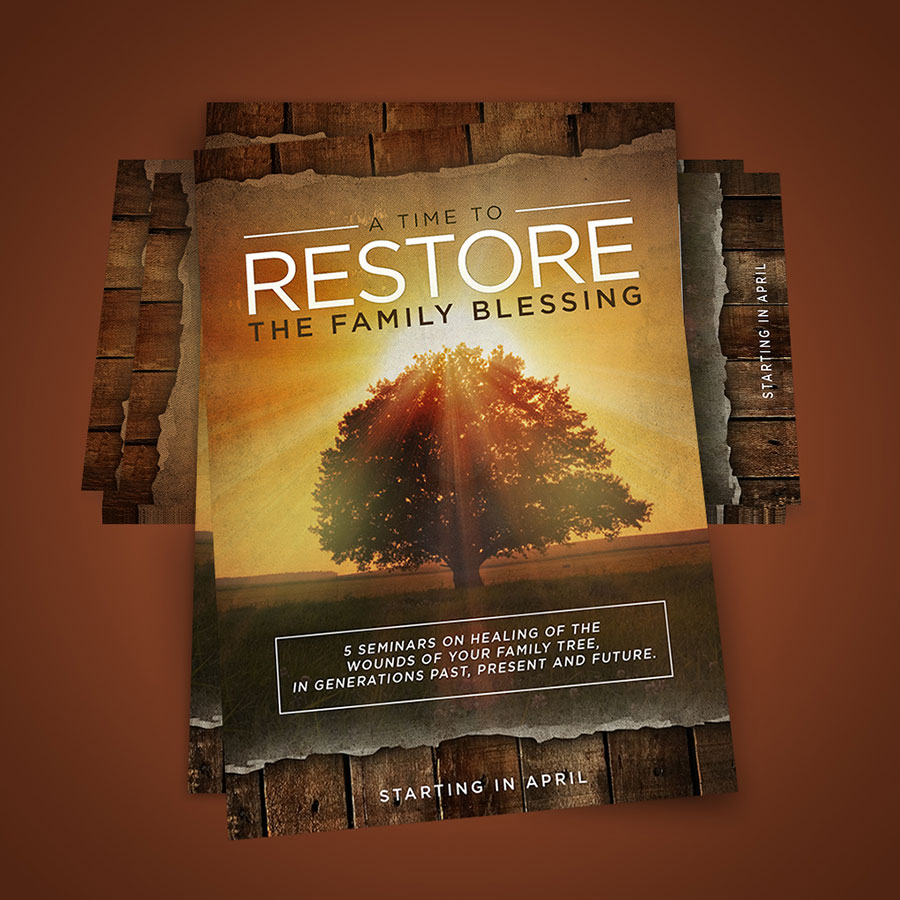 Poster A Time to Restore the Family Blessing | New Pentecost Catholic Ministry