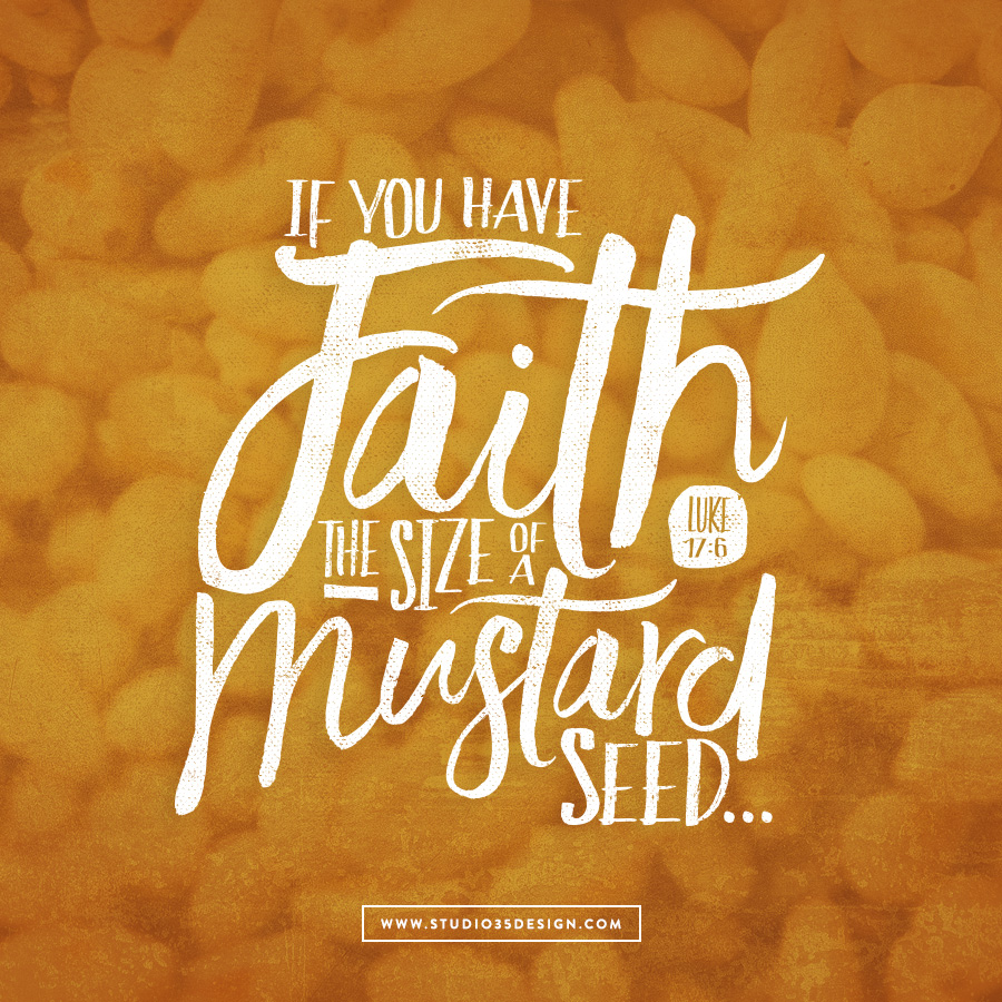If you have faith the size of a mustard seed, you would say to this mulberry tree, 'Be uprooted and planted in the sea,' and it would obey you. Lucas 17:5-6