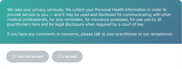 Paperless intake & consent forms for Cliniko — Finger-Ink