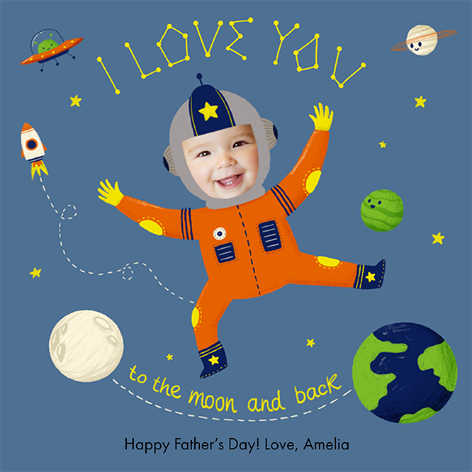 A personalized Valentine's Day e-card, featuring a child named Jackson as a pilot flying a plane that says LUV-U on the side.  The card is illustrated except for Jackson's face which is a cropped photo of the his face