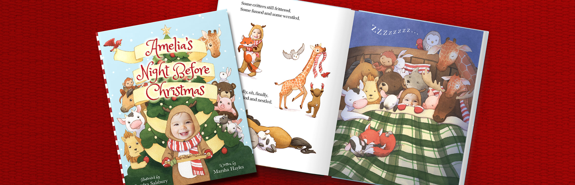 personalized christmas book night before christmas read your story