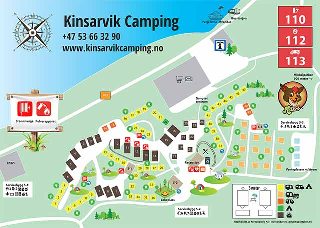 camping norge kart Kinsarvik Camping | Family friendly camping situated by the  camping norge kart