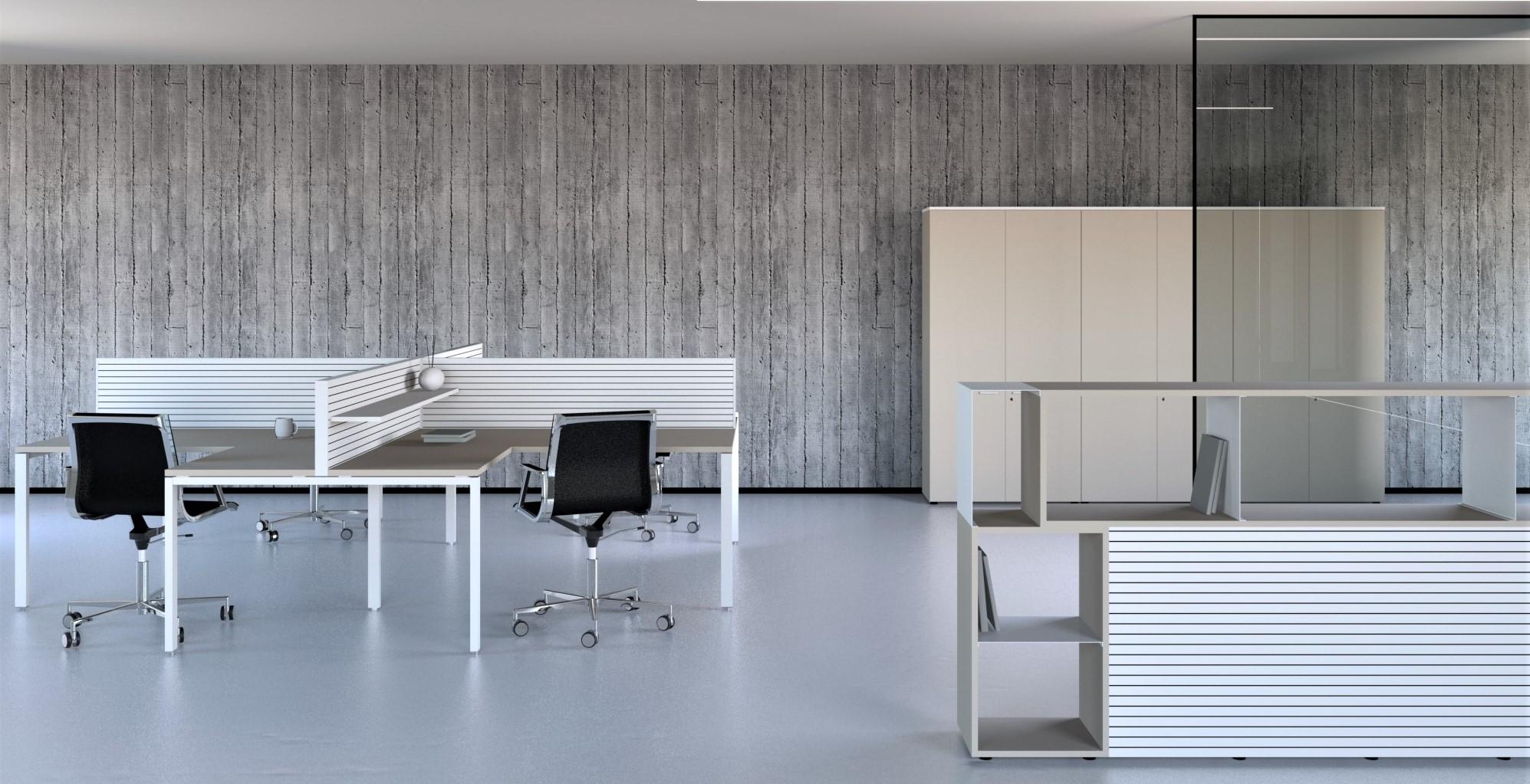 La serie Smart crea spazi operativi dinamici ideali per il moderno ufficio dove il cambiamento è un concetto portante