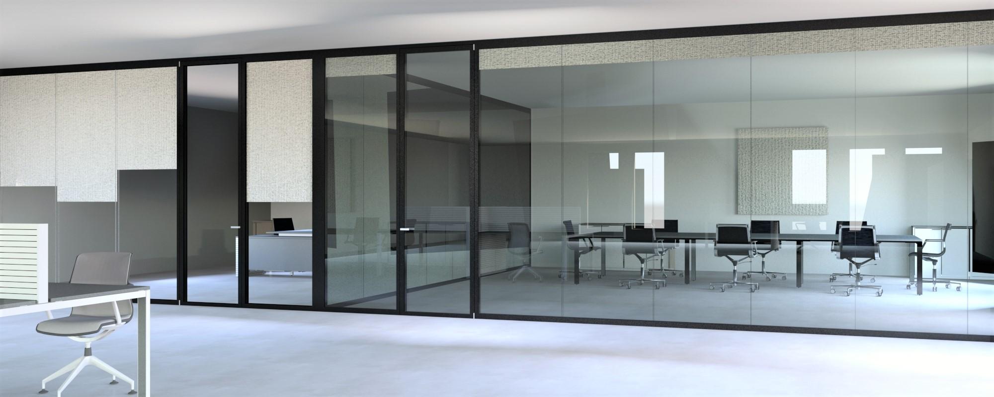 divisioni vetrate, doppio vetro