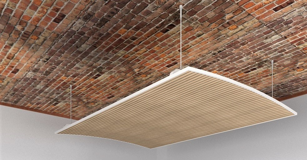 piattaforma a soffitto fonoassorbente