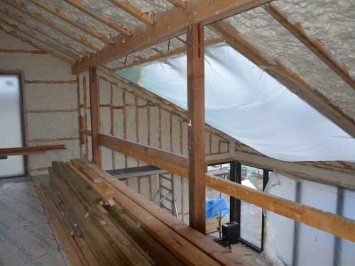Excellent levels of insulation from Icynene spray foam
