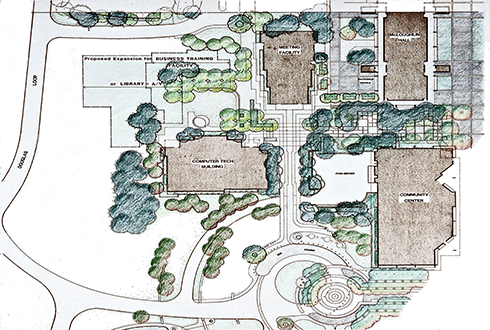 Masterplan Clackamas Community College Map on