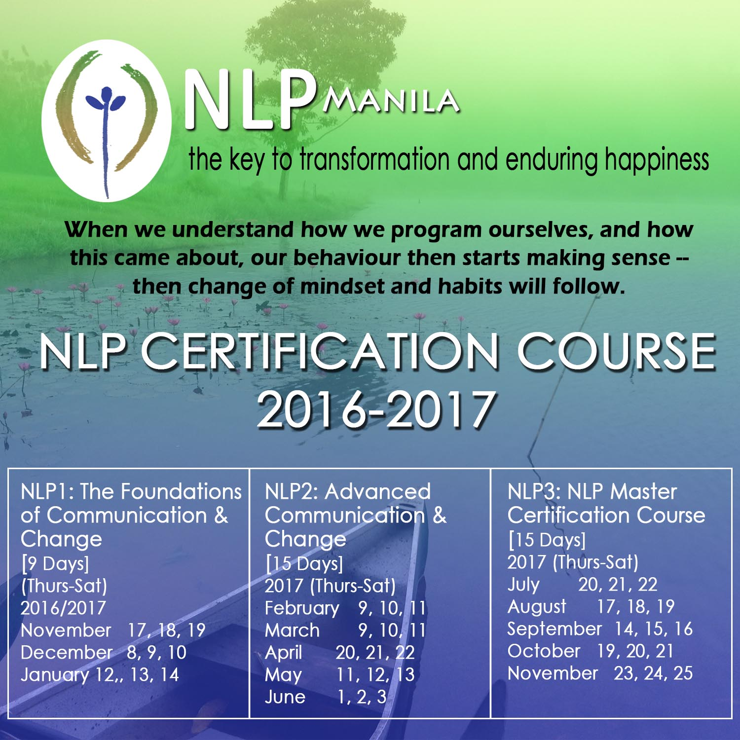 Nlp Manila Certification Courses 2016 2017