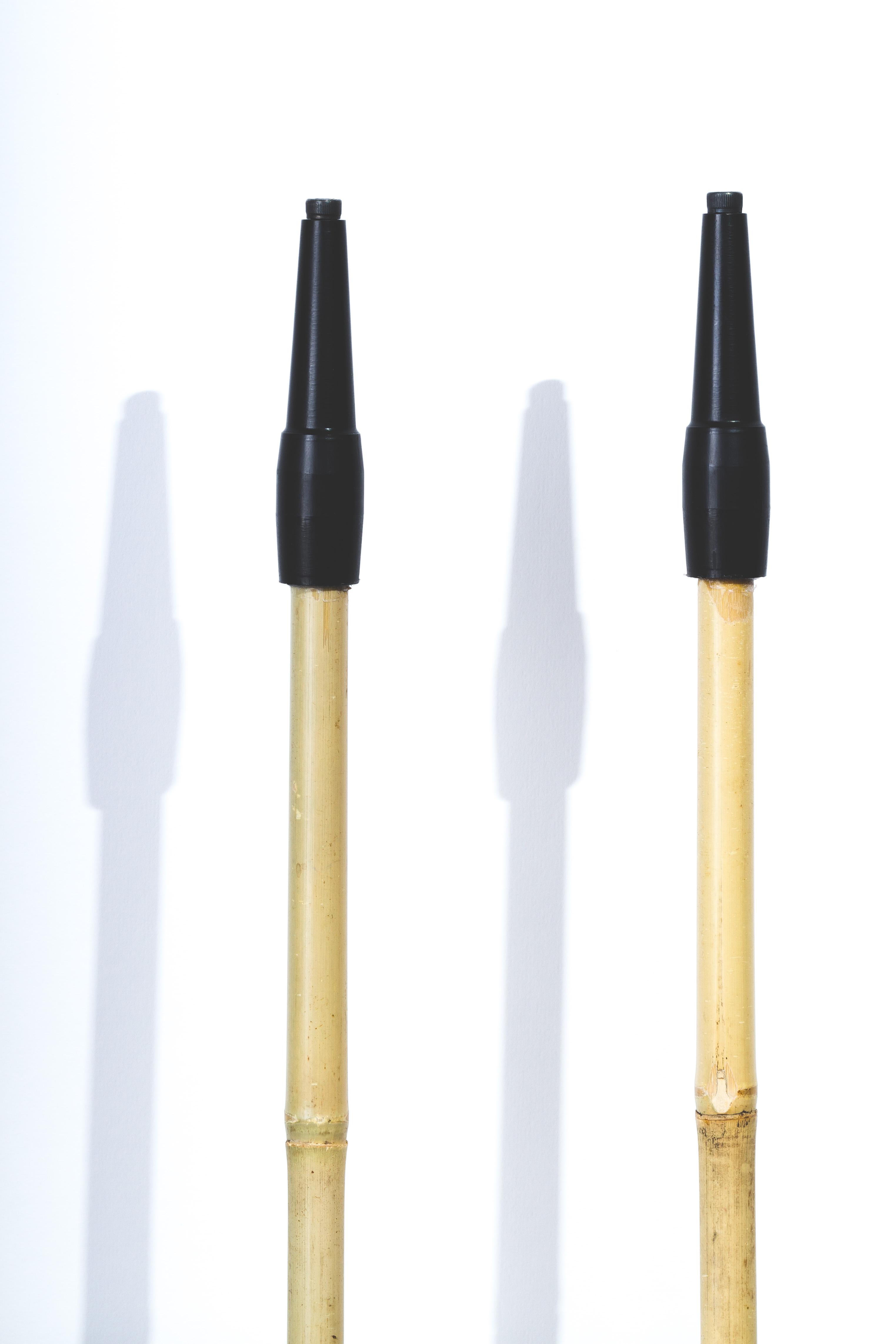 Uphill Designs - Alpine bamboo and cork trekking poles - tips