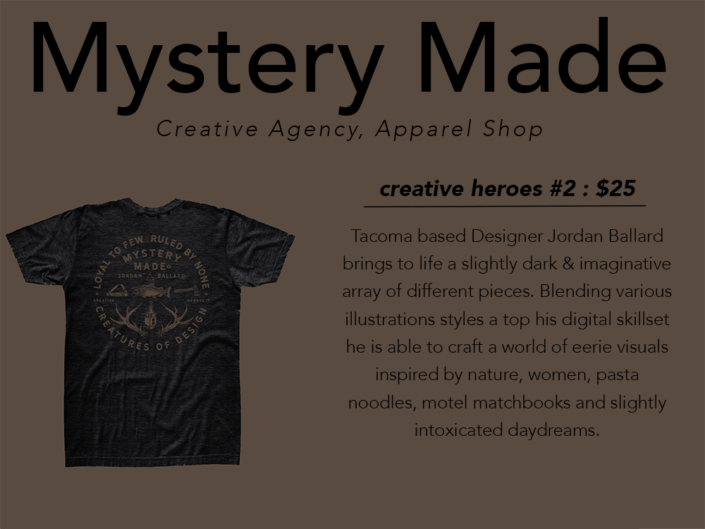 PNW gift guide Mystery Made shirt