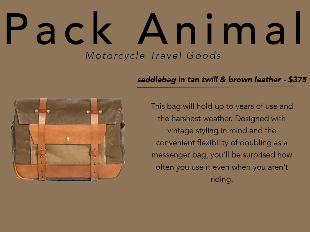 PNW gift guide Pack Animal saddlebag