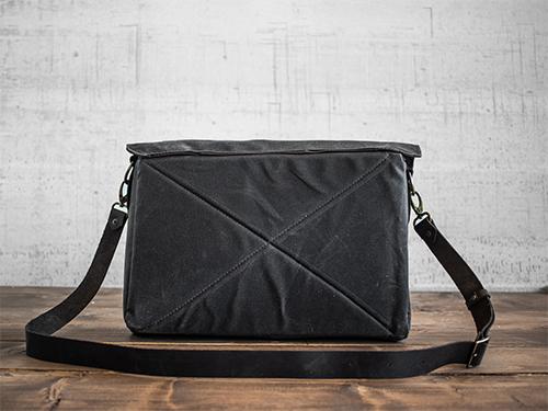 Uphill Designs - waxed canvas Appalachian messenger bag - oak - front