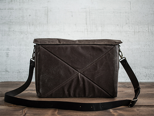 Uphill Designs - Appalachian waxed canvas messenger bag - carob brown - back