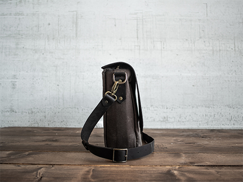 Uphill Designs - Appalachian select messenger bag - carob - side