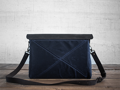 Uphill Designs - Appalachian select messenger bag - navy - side