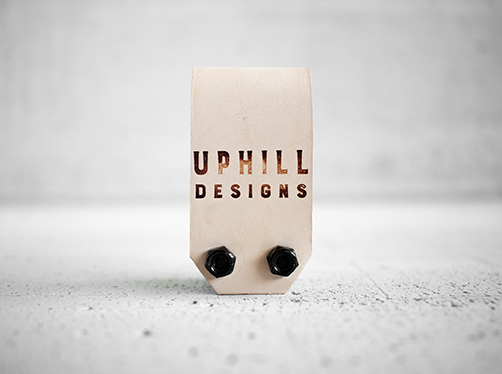 Uphill Designs - Acadia leather wrapped bicycle multitool - natural back