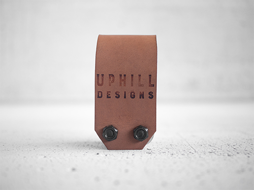 Uphill Designs - Acadia leather wrapped bicycle multitool - light brown back