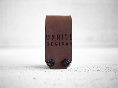 Uphill Designs - Acadia leather wrapped bicycle multitool - medium brown back