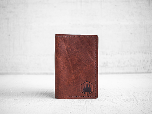 Uphill Designs - Mesa passport and field notes holder - english tan - front
