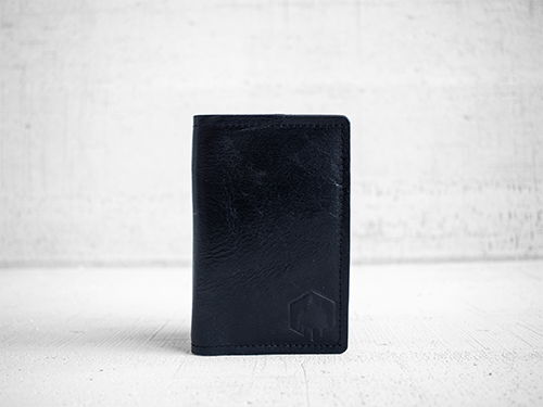 Uphill Designs - Mesa passport and field notes holder - onyx black - front
