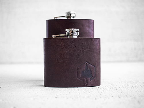 Uphill Designs - Bailey flask - Sienna brown - both sizes