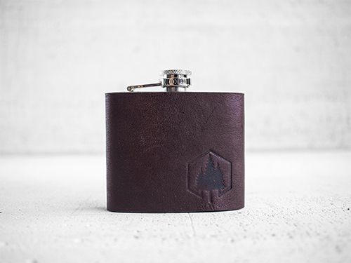 Uphill Designs - Bailey flask - Sienna Brown - Large front