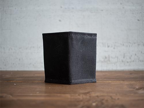 Uphill Designs - waxed canvas mono wallet - oak - closed