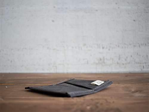 Uphill Designs - waxed canvas mono wallet - all colors - closed