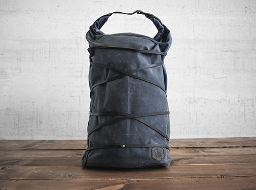 Uphill Designs - waxed canvas Divide rucksack - charcoal - front