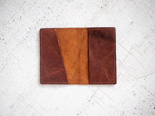 Uphill Designs - Mesa passport and field notes holder - english tan - back