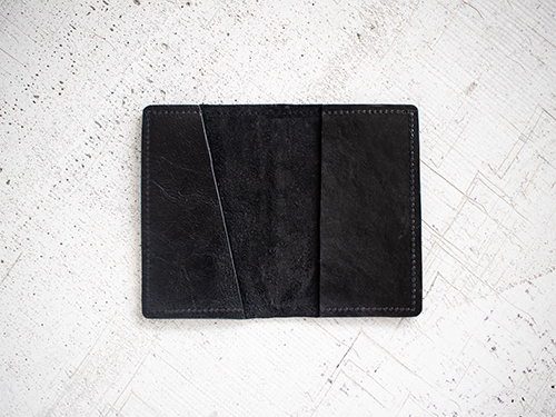 Uphill Designs - Mesa passport and field notes holder - sienna brown - open