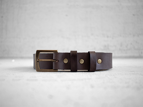 Uphill Designs - Chinle leather belt - dark brown front
